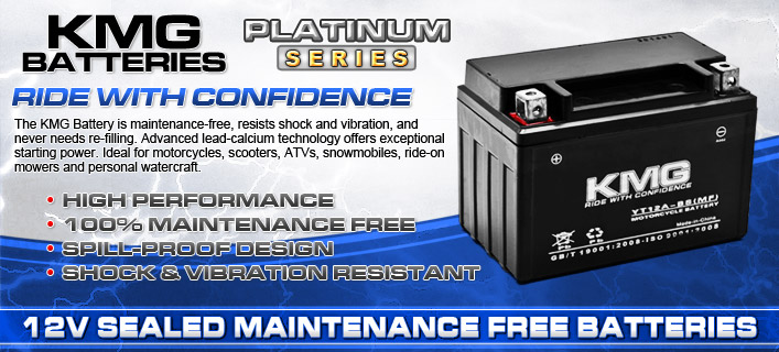 KMG Sealed Maintenance Free Batteries Available at KapscoMoto