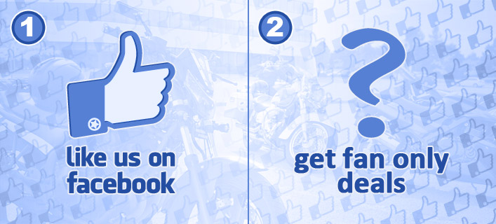 Like Us on Facebook. Show your support. Get the latest updates. Be an insider on exclusive deals.